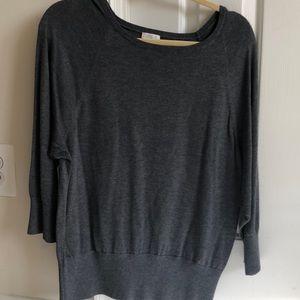 Talbots gray dolman 3/4 sweater